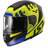 LS2 FF397  VECTOR PODIUM HI-VIS YELLOW BLACK FOG FIGHTER