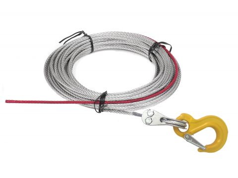 Wire rope w/stopper & hook