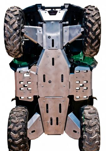 Ricochet ATV Yamaha Grizzly 700, Skidplate set with floor boards