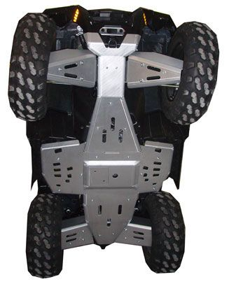 Ricochet ATV Polaris XP550/850 2009, Skidplate set with floorboard plates