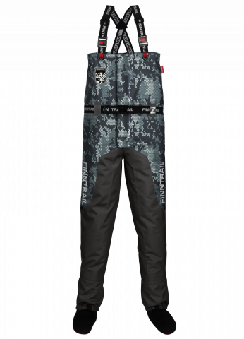 Nohavice FINNTRAIL WADERS AQUAMASTER-Z CAMOGREY