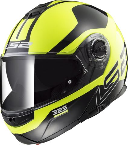LS2 FF325 STROBE ZONE HI-VIS YELLOW BLACK