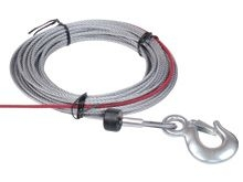 WA-628 Wire rope W/Hook 5.5mmx15.2m for Cub 4 - steel rope