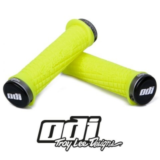 ODI grips Troy Lee Designs ATV Lock-On Bonus Pack Yellow w/Gray Clamps