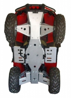 Ricochet ATV Arctic Cat 400/550/650/700 TRV, 2004-2014 Skidplate Set with Floor