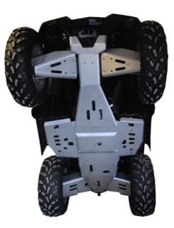 Ricochet ATV Polaris Sportsman XP550/850 2011-2012, Skidplate Set with cover pla