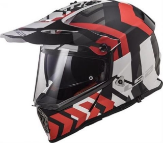 LS2 MX436 PIONEER XTREME MATT BLACK RED